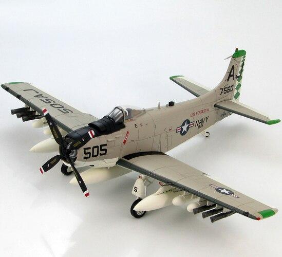 HM 1/72 HA2908 US A1 AD-6 attack aircraft model Forrester Black Falcon Favorites Model