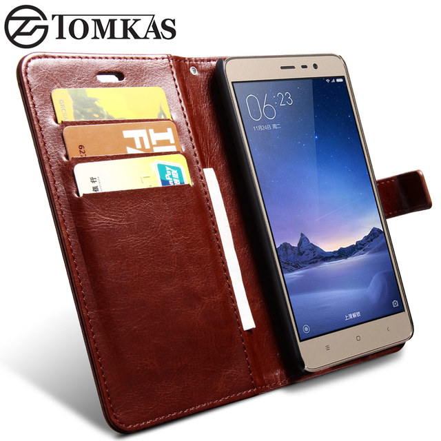 Xiaomi Redmi Note 3 Pro Case Redmi Note 3 Case Cover TOMKAS Flip Leather Wallet Case For Xiaomi Redmi Note 3 Pro Prime Phone
