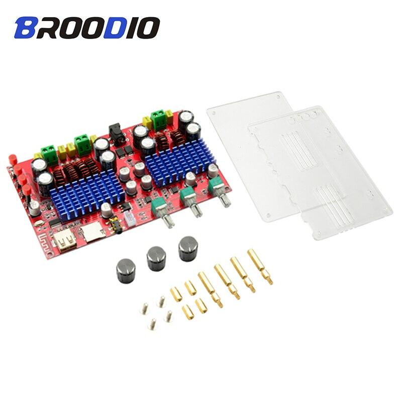 TPA3116D2 carte amplificateur Bluetooth haute puissance caisson de basses ampli 2.1 canaux amplificateur Audio numérique Support U disque TF décodage bricolage