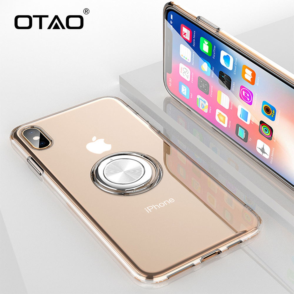 iPhone X//XS, Glod for iPhone X//XS|Xsmax|XR case Clear Slim TPU Cover with Electroplated Bumper Ultra Transparent Case for Magnetic Car Mount