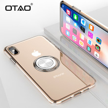 OTAO Ultra Thin Soft TPU Magnet Phone Case For iPhone XS MAX X XR Full Body Slim Protective Cover For iPhone 8 7 6 6S Plus Coque(China)