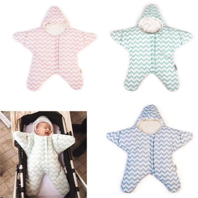 Starfish Baby Sleeping Bag Winter Warm Thick Stroller Sleeping Sack for Newborn Infant saco bebe dormir slaapzak