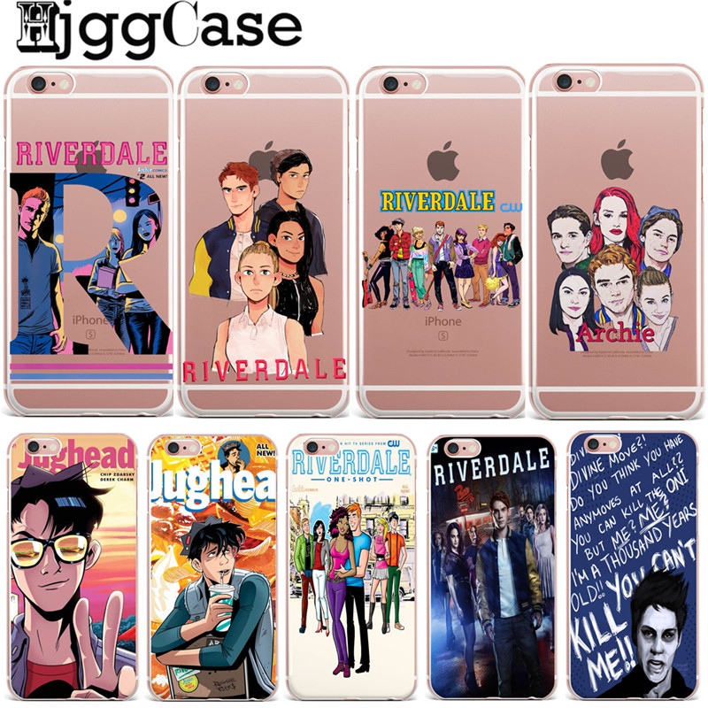 hot tv riverdale soft clear tpu phone case for iphone x 8