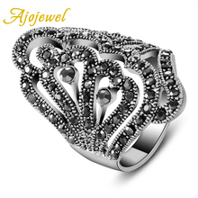 size 7-9 new 18K White Gold Ring aneis vintage Jewelry womens fashion