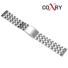 COXRY 20 mm stainless steel watch band 20mm watch strap women watch men watch bracelet watchband watchband for rolexwatch solid stainless steel watch bands bracelet watch accessories silver 20mm 21mm submariner man watch tool