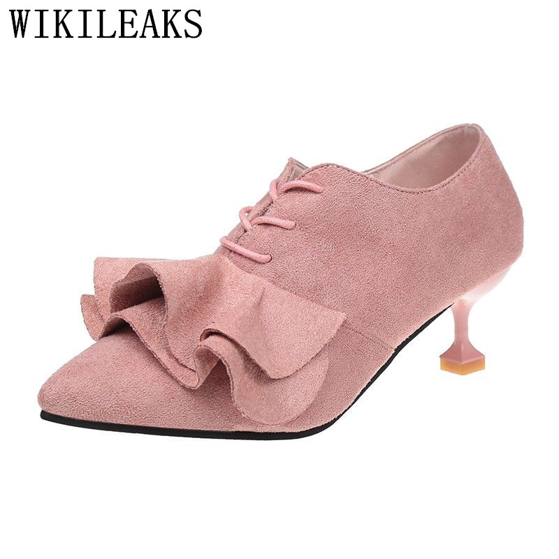 2017 women shoes ruffles sexy high heel pumps ladies shoes pointed toe fetish high heels party wedding shoes women zapatos mujer silver patent leather sexy ballet heels fetish shoes high heels pumps silver heels ladies party shoes 2017 ballet dance shoes