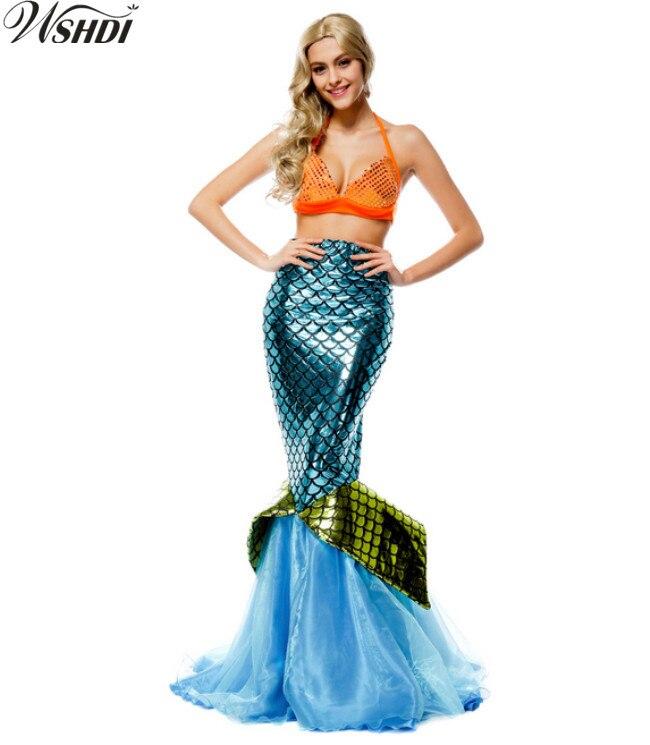 Fantasia Mermaid Tail Costume Sexy Adult Mermaid Princess Costumes Valentine's Day Romantic Beauty Costume Sea Maid Dress