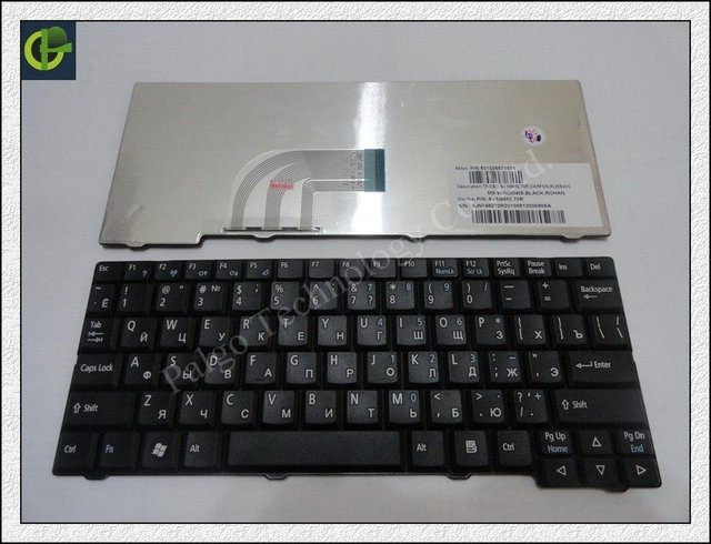 Teclado russa para acer aspire one zg5 d150 d210 d250 A110 A150 A150L ZA8 ZG8 Emachines EM250 KAV60 RU Preto teclado
