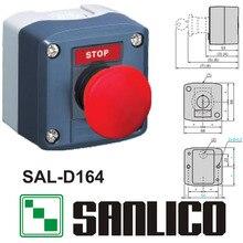 Caja de control a prueba de agua interruptor de botón pulsador estación de SAL (LA68H-D XAL)-D164 hongo rojo de parada de emergencia de retorno por muelle