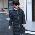 120-160 Korean Girls Casual Winter Warm Down Jacket Girl Duck Down Cotton-padded Children X-Long Hooded Fashion Jackets Parkas