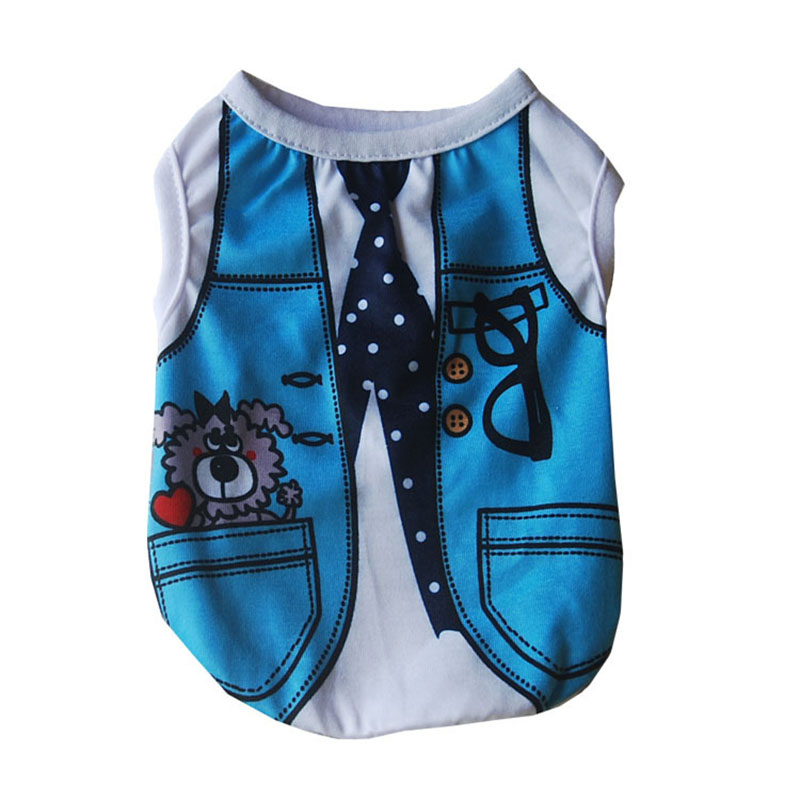 Comfortable Pet Cat Clothes for Spring and Summer Cute Cat Vest Shirt Cotton T-Shirt for Kitten and Puppy Dogs XS S M L XL XXL