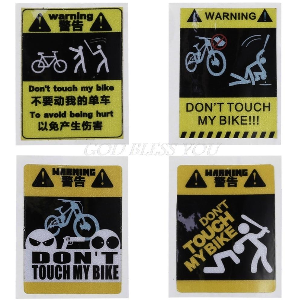 1 Pz Sticker Bicicletta Ciclismo Riflettente Di Sicurezza 4 Tipo Di Mtb Fixed Gear Cornice Decorazione Piacevole Nel Dopo-Gusto