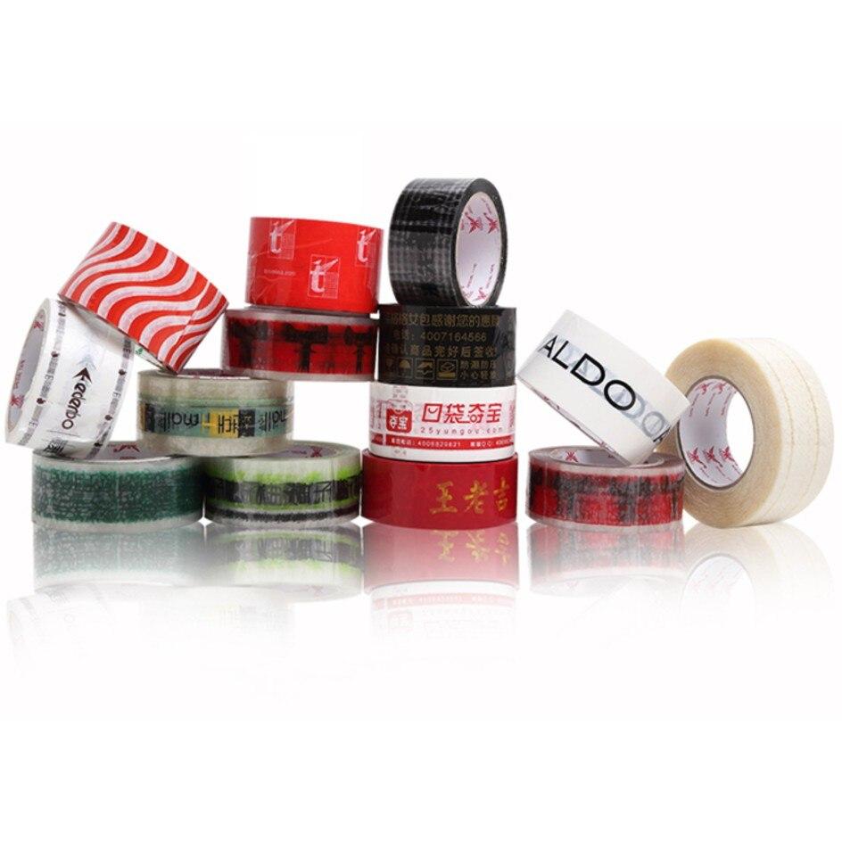 custom adhesive tape with logo/adhesive ribbon/warning carton sealing clear transparent tape/gift box packing tape print Клейкая лента