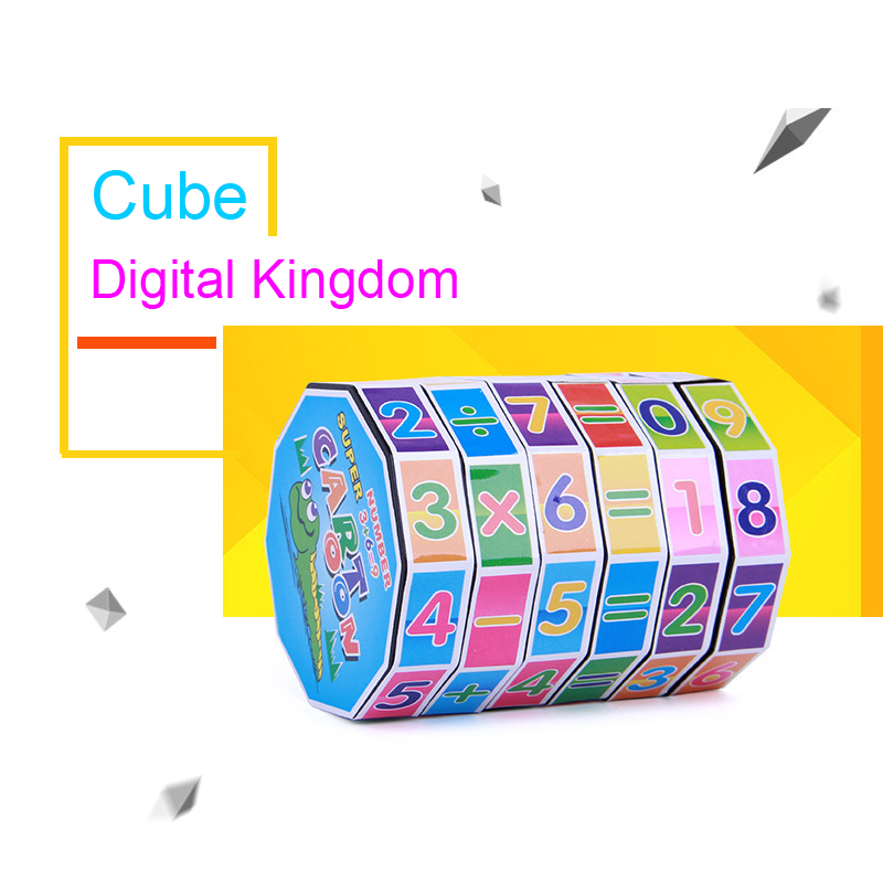 Mini Numbers Magic Cube Kids Learning & Education Hand Toys For Children Intellectual Development Knowledge Cognition Puzzle Toy