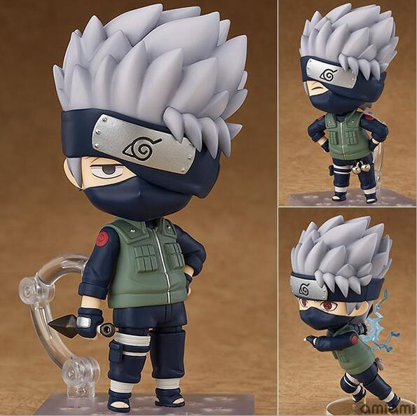 10cm Naruto Shippuden Hatake Kakashi Nendoroid 724# Anime Action Figure PVC toys Collection figures for friends gifts 17