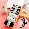 Os Recém-chegados das Mulheres marca de Design de Algodão Meias Estrela Mulheres casuais Em meias tubo de meias de alta qualidade (com caixa de presente)