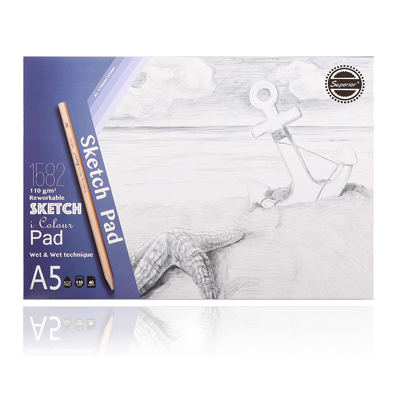 Dainayw Premium A5 40Sheets Sketch Pad Notebook Sketch Book For Drawing Sketching Pencil Paint School Art Supplies