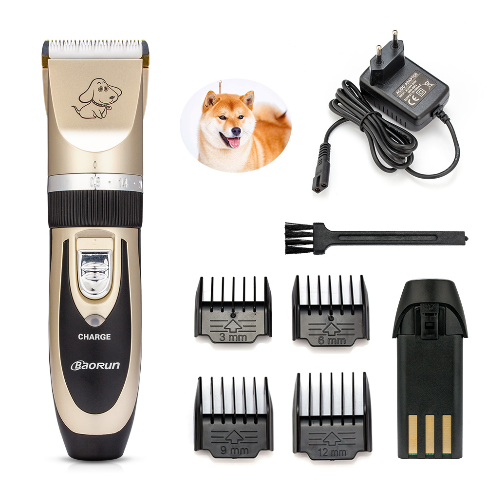 Baorun Professional Rechargeable Pet Clipper Cat Hair Trimmer Animal Dog Grooming Machine Cutter Haircut Shaver Electric
