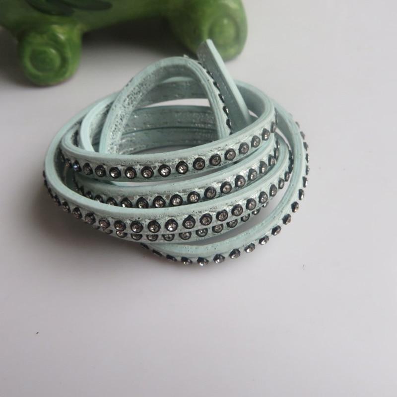 1 M 5*2mm Plat PU Cuir Cordon Pour À faire soi-même Bijoux Bracelet Collier Making Corde