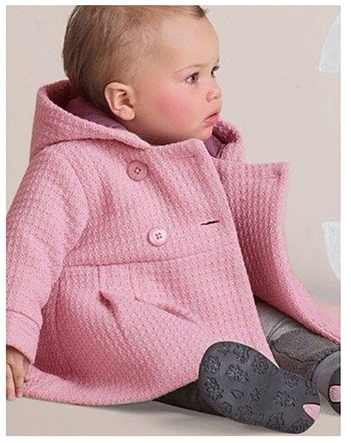 2015 Novo bebê casaco menina bonita da menina rosa revestimento do outono inverno infantil outerwear roupa do bebê