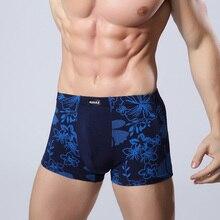 Хорошее Качество Волокна Бамбука мужские Underwear U Мешок Печатных Боксер Шорты Дышащий Мужской Сексуальные Трусики Боксеры Плюс Размер L-XXXL