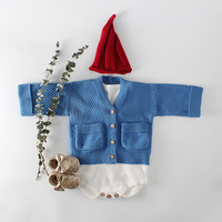 MILANCEL 2018 Baby Girls Winter Clothes Knitted Baby Cardigan Pocket Style Baby Boys Sweaters Cardigan Baby