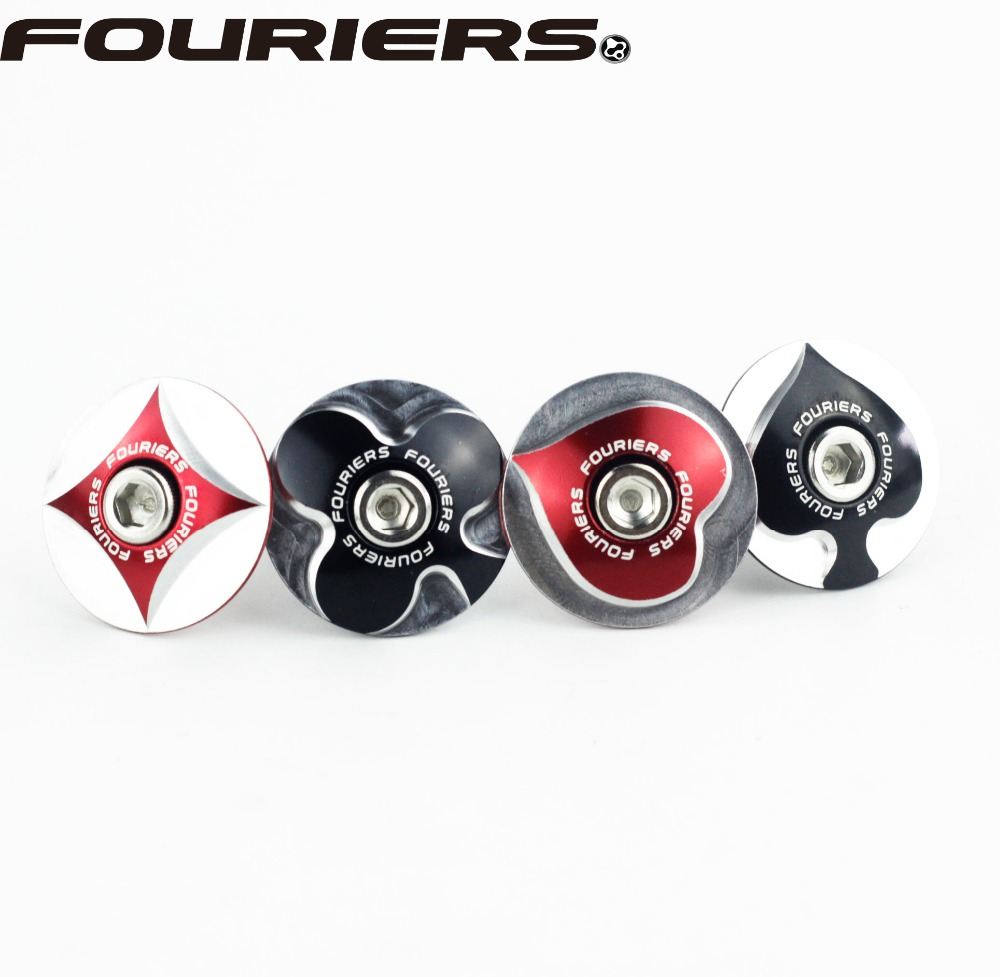 Fouriers TC-S00 CNC Bike Stem Top Cap Headset Cover 28.6mm 1 1/8 Steerer Poker Shape Balck Red