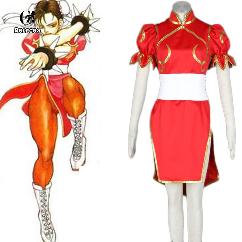 Street Fighter Halloween Costumes ultra street fighter iv halloween costume dlc the escapist Rolecos Brand New Japanese Game Street Fighter Women Cosplay Costumes Color Red Chun Li Cosplay
