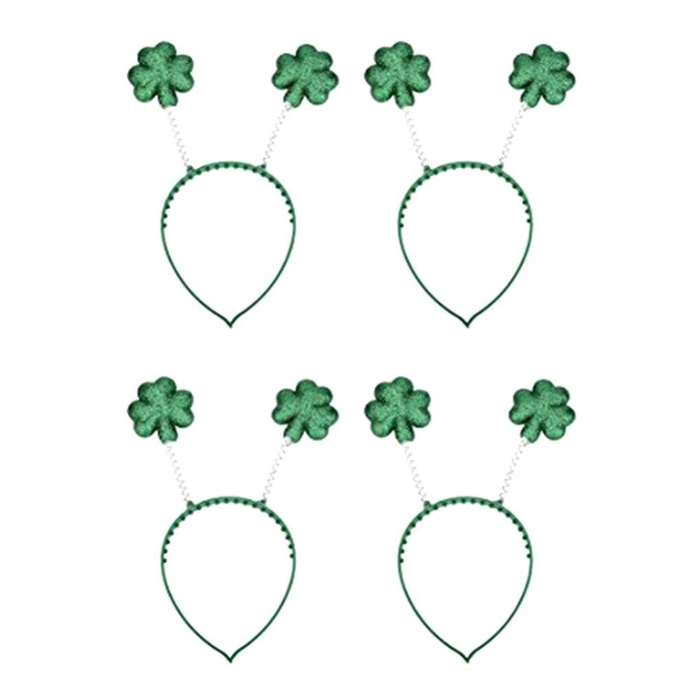 4 шт. зеленый трилистник Hairbands для День Святого Патрика для взрослых отличный аксесс ...