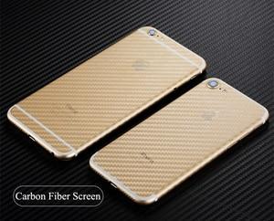Image 4 - 5Pcs iPhone 6 6s 7 8 Plus 5s Full Cover 3D Anti fingerprint Carbon Fiber Back Screen Protector Film For iPhone X XR XS 11Pro Max