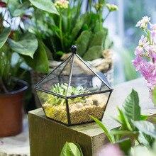 DIY Europe Artistic Glass Geometric Plants Terrarium Jewel-boxed Desktop Flower Pot Garden Bonsai Succulent Planter Flowerpot