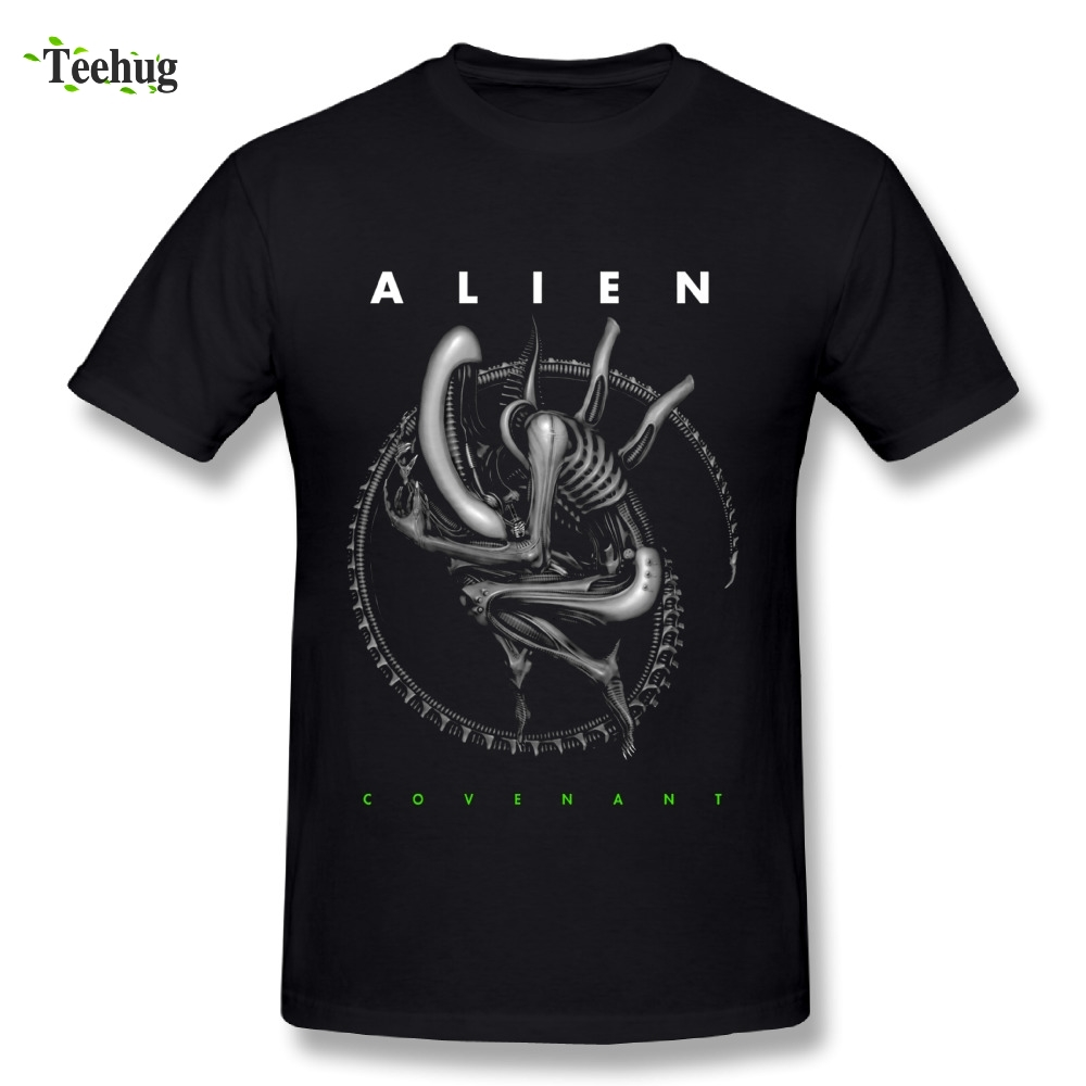 Fashionable Men Alien Covenant   T     Shirt   Awesome Man Alien Pure Cotton   T  -  Shirts   Summer Streetwear Camiseta