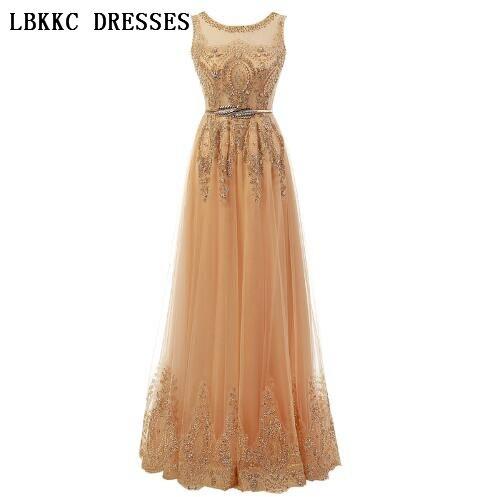 Longues robes De bal De luxe élégantes femmes or rouge Royal bleu robes robe De soirée pas cher pour l'obtention du diplôme Vestidos De Baile