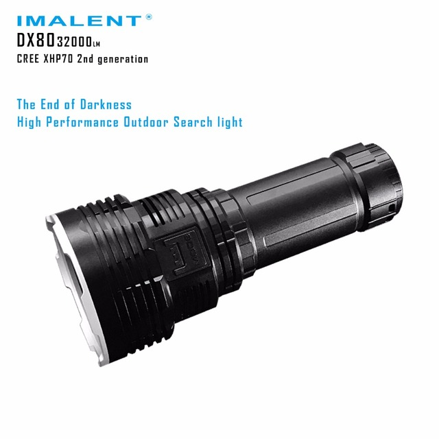 IMALENT DX80 High Lumen Flashlight 8* CREE XHP70 max 32000 lumen rechargeable torch beam distance 806 meter with battery pack