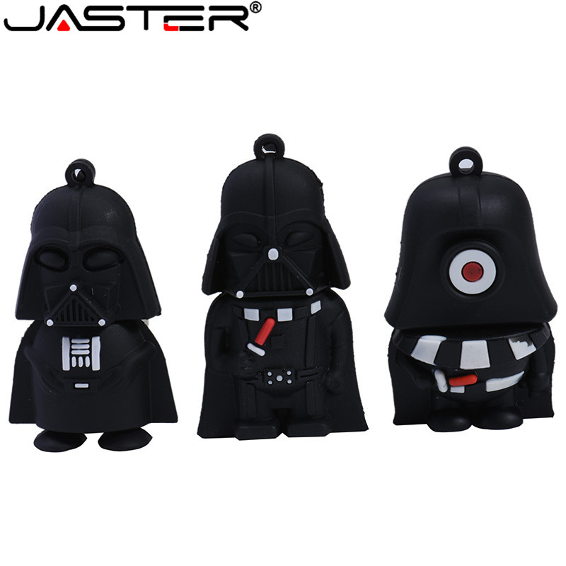 JASTER Star Wars Usb Flash Drive Pen R2D2 32gb 16gb 4GB Flash Stick 64gb Memory Pen Drive Usb 2.0 High Speed Cartoon Pendrive