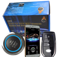 english Voice control car alarm with proximity sensor smart key entry smart phone app control and gps online real time tracking