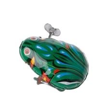 Металлическая заводная прыгающая лягушка заводная оловянная игрушка детская забавная игра винтажная кукла