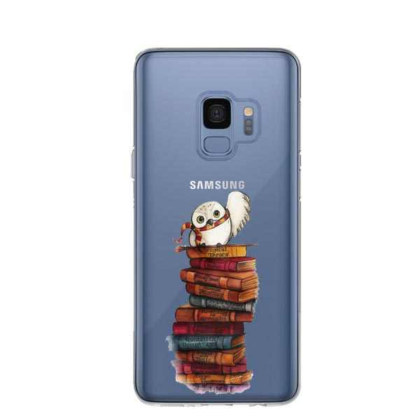 Owl and Book Harry potter Back Cover Phone Cases for Samsung Galaxy S5 S6 S7 Edge S8 S9 Plus Note9 A6 A8 A7 2018 A750 j5 J7 2016