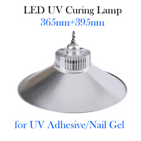Бестеневые клей отверждения лампы, УФ отверждения клея легкий портативный светодиодный ультрафиолетового Blacklight 395 + 365nm Диаметр 280 мм Беспла