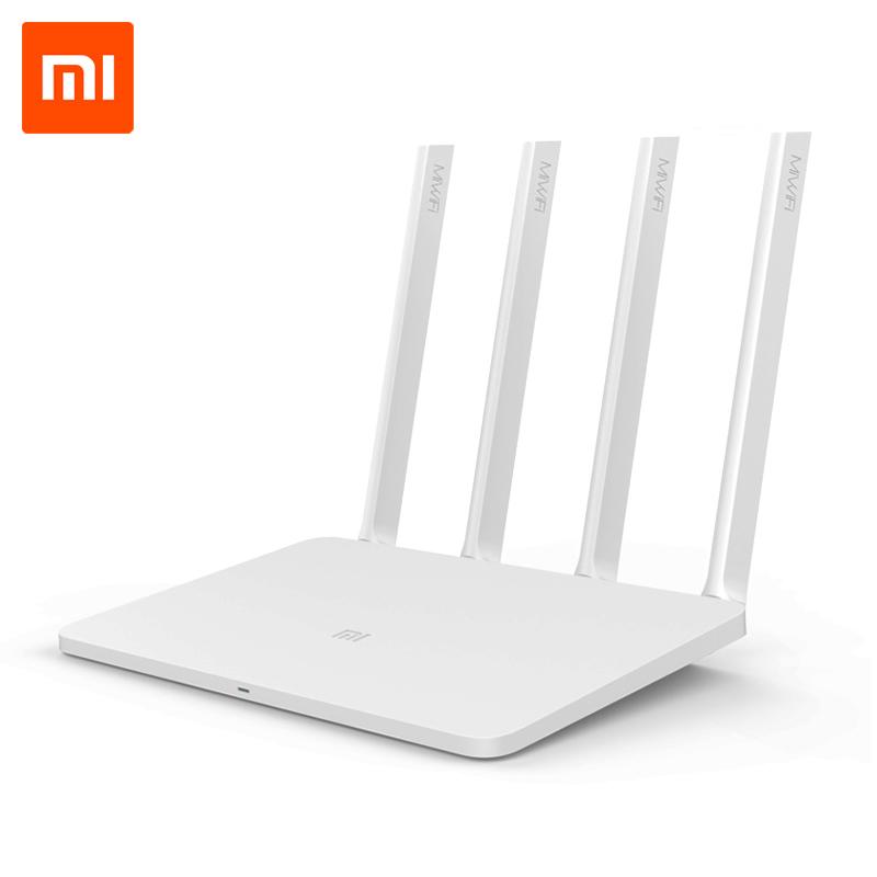 Prix pour D'origine Xiaomi WiFi Routeur 3 Anglais Firmware Version 2.4G/5 GHz WiFi Répéteur 128 MB APP Contrôle Wi-Fi sans fil Routeurs