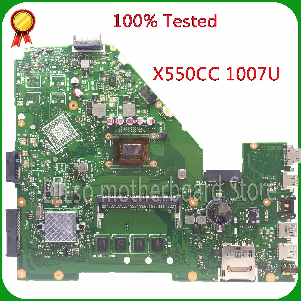 KEFU X550CC For ASUS X550CC X550CA Laptop motherboard X550CC mainboard REV2.0 1007U 100% tested original motherboard kefu q5wv8 la 8331p motherboard for acer aspire v3 551g laptop motherboard original tested v3 551 motherboard