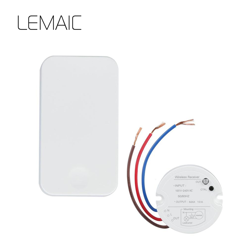 LEMAIC 3 Channel 433MHZ RF for Light Digital Wireless Wall Remote Control Switch Receiver Transmitter Switch Kits Remote Control high quality 1 2 3 channel wireless remote control switch digital remote control switch receiver transmitter