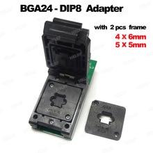 Адаптеры BGA24 DIP8 для программатора RT809H RT809F TL866CS TL866A EZP2010 EZP2013 + 2 шт. чип рамка IC Размер 6*4 мм + 5*5 мм матрица