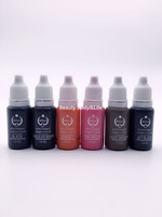 Free Shipping 6 Bottles 15ml Bottle Tattoo Ink For Eyebrow Makeup Pigment Permanent Makeup Ink 23