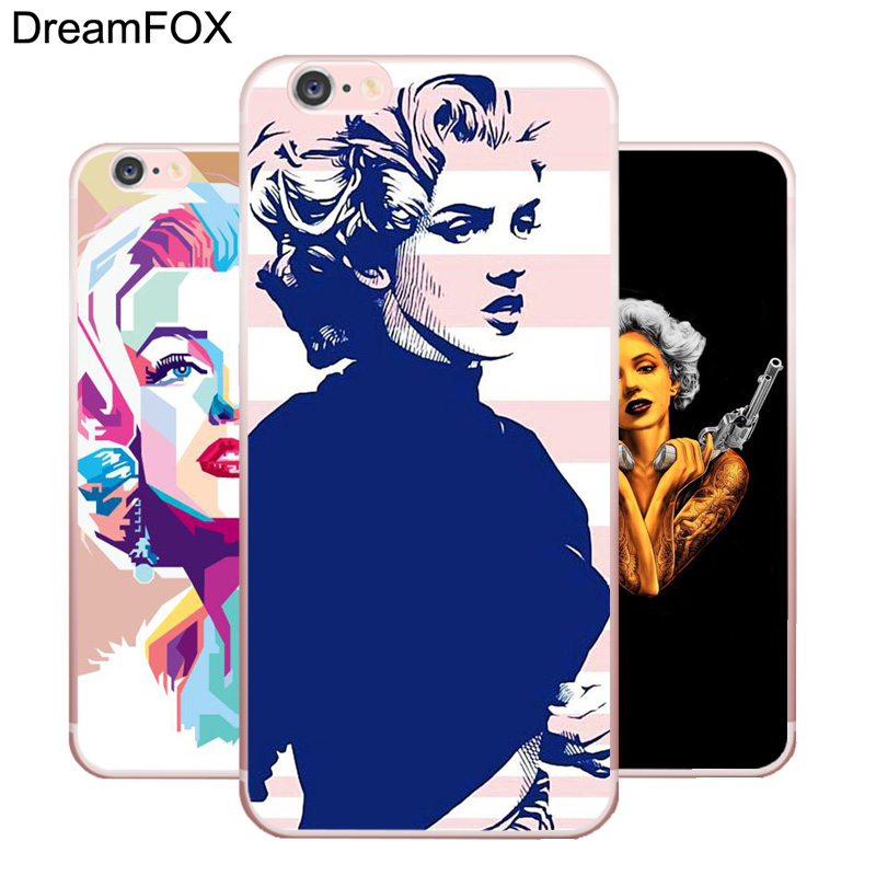 L208 Marilyn Monroe Soft TPU Silicone Case Cover For Apple iPhone X 8 7 6 6S Plus 5 5S SE 5C 4 4S