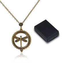 DoreenBeads 5X Magnifying Glass Necklace golden tone antique golden Round Dragonfly Halloween Owl Elephant Flower 61.5cm