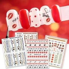 Новинка стикер для ногтей сексуальный дизайн 3d шаблон наклейка