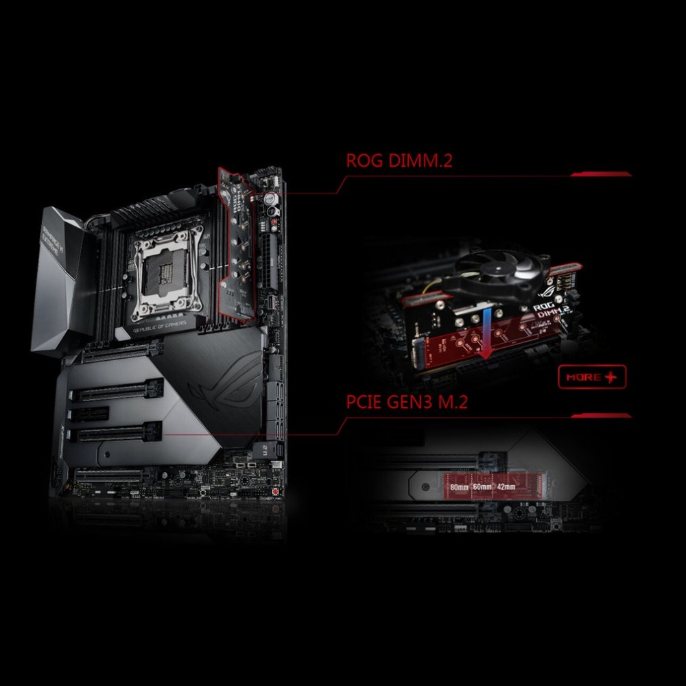 цена ROG RAMPAGE VI EXTREME Motherboard ASUS X299 Mainboard Support LGA2066 DDR4 Dual M.2 Extension Card Desktop Motherboard