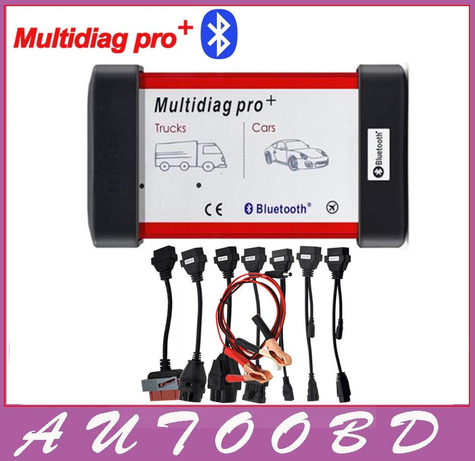 Prix pour Universel Multidiag Pro + Plein 8 De Voiture Câbles TCS CDP PRO OBD2 Bluetooth Auto Scanner OBDII 2 Camions De Voiture Testeur De Diagnostic outil