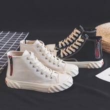 Black High Help Canvas Shoes Women Sneakers Women Shoes Korean Harajuku Lace Up Casual Shoes Zipper Womens Shoes Woman Trainers цена 2017